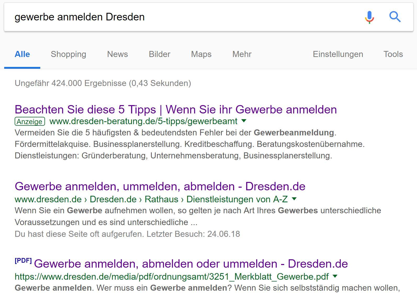 Kleingewerbe Anmelden Dresden